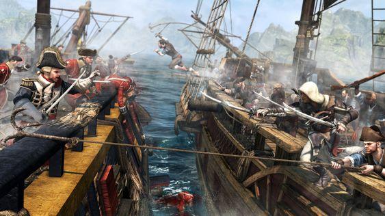 Seiling og skipskamp er en stor del av spillet.