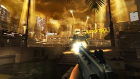 Skjermbilete av mobilversjonen av Deus Ex: The Fall.