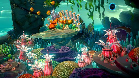Fantasia: Music Evolved drar inspirasjon fra filmen med samme navn, for eksempel i de fargerike verdenene.