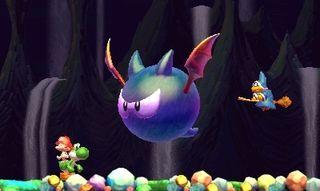 Sjefene er gjerne forvokste utgaver av vanlige fiender. (Bilde: Arzest/Nintendo).