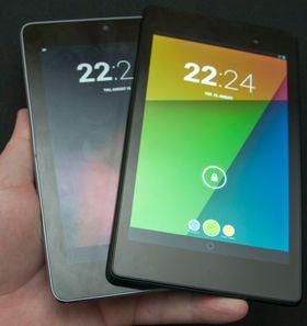Ny og gammel Nexus 7. Den nye er til høyre.
