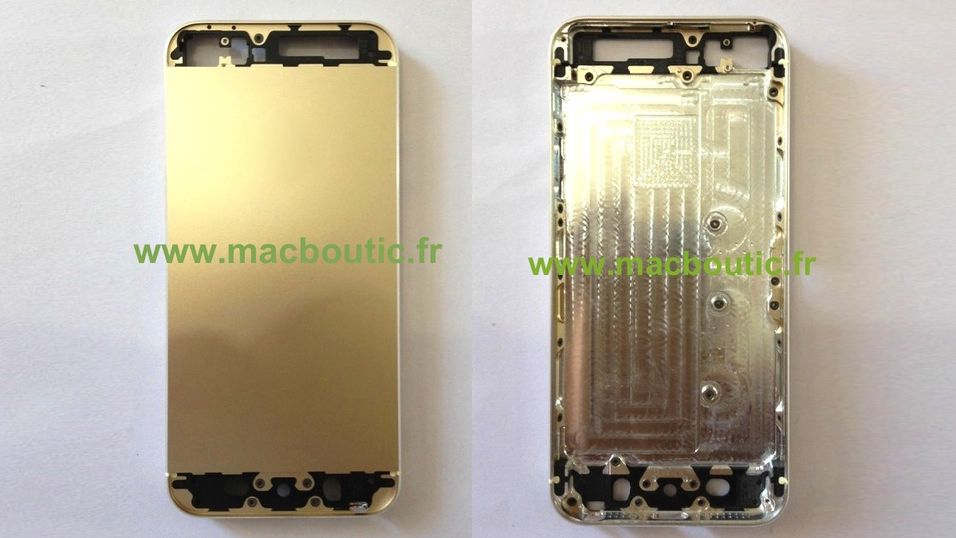 iPhone 5S kan få gullfarge
