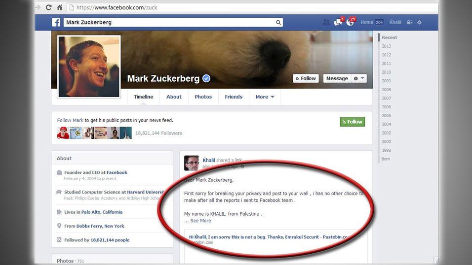 Ble ikke tatt på alvor – hacket veggen til Facebook-sjefen