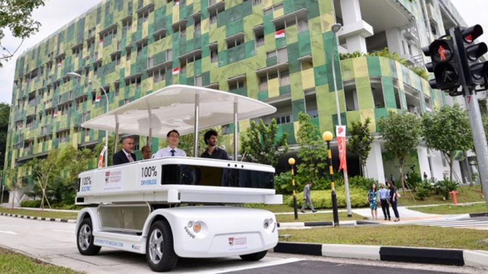 Singapore får førerløs drosje
