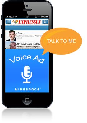Svenske Widespace lanserer nå mobilannonser du kan snakke til - og som svarer tilbake.