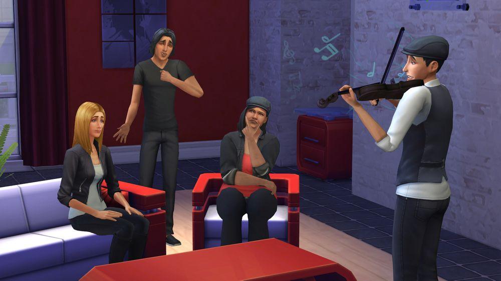 Ikke alle lar seg imponere over Fillips fiolin. .