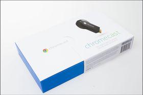 Produktesken til Chromecast.