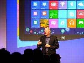Steve Ballmer ved lanseringen av Windows 8.