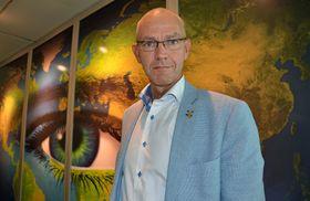 Storm J. Landaasen, Telenor Norge, gjør seg klar for kriseøvelse.