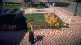 Hvordan havnet en actionhelt foran et blomsterbed, ikledd skjorte og strikkevest?