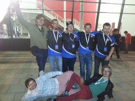 Norske og svenske landslagsspillere. Fra venstre: 2nuts, ryb, Zebbosai, Bybben, Jukebox, E-thug og Ace.