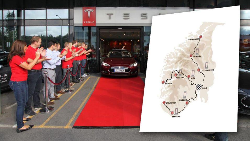 Elbilen Tesla satser stort i Norge