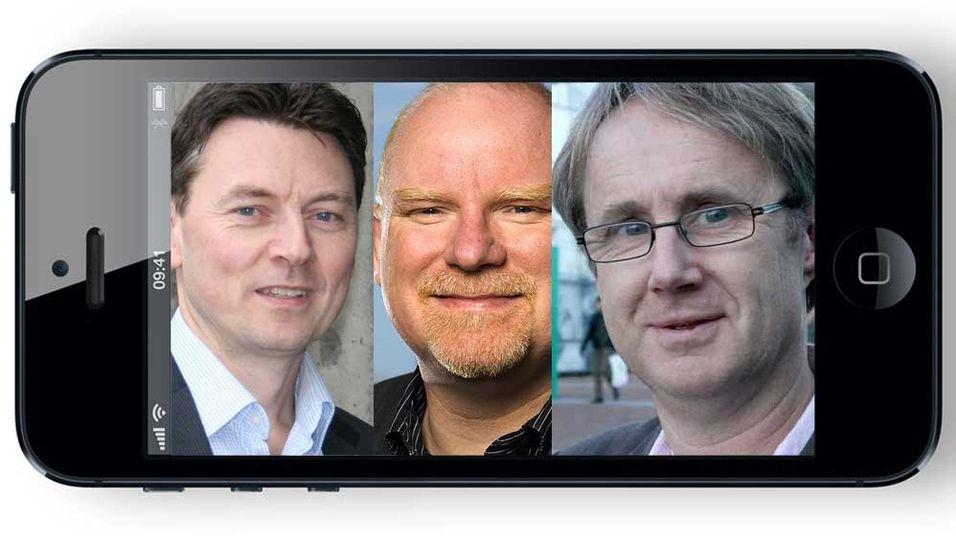Teknisk sjef Geir Løvnes i Tele2, dekningssjef Tommy S. Johansen i Netcom og dekningsdirektør Bjørn Amundsen i Telenor har fått minst ett av sine ønsker til nye Iphone-modeller oppfylt.