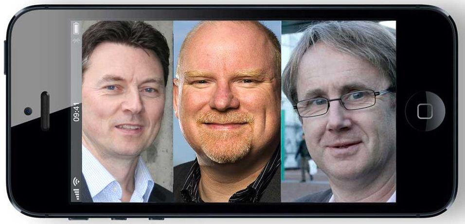 Tele2s tekniske direktør Geir Løvnes, Netcoms dekningssjef Tommy S. Johansen og Telenors dekningsdirektør Bjørn Amundsen  har alle ønsker om støtte for flere frekvenser i ny Iphone.
