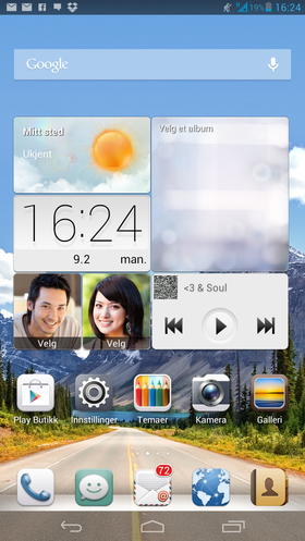 Slik ser Huaweis variant av Android ut. Her er det bare hjemmeskjermer. App-menyen er tatt bort. Det krever en viss ryddighet.