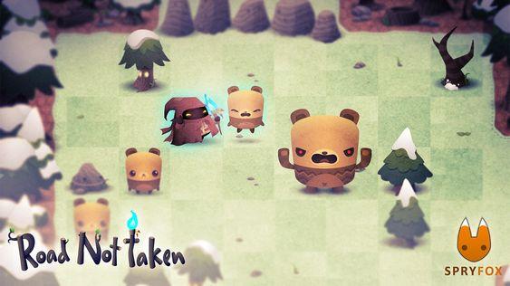 – Grr! Jeg er en sint bjørn! (Skjermbilde: Spry Fox).