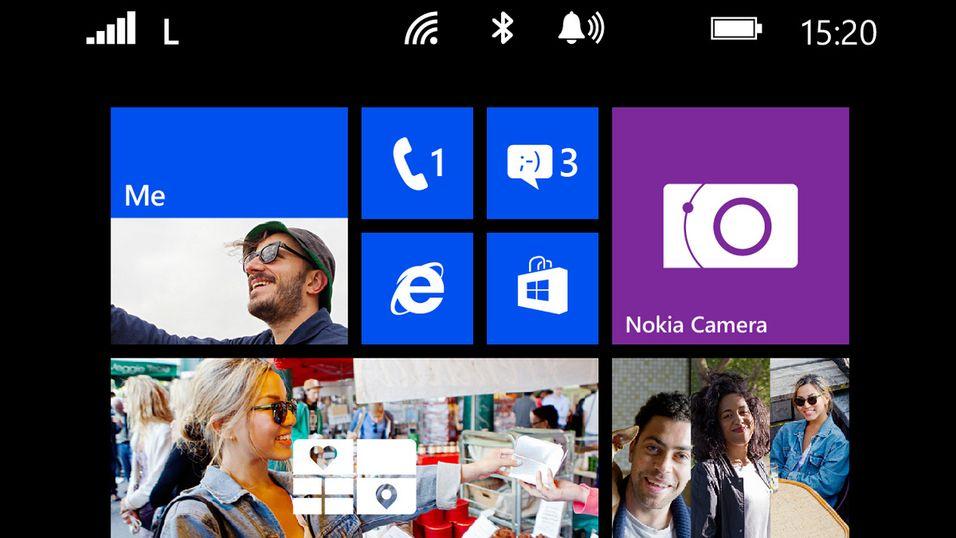 """Slik ser menyene ut på Nokias første """"phablet"""""""