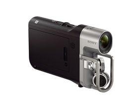 Sony Handycam HDR-MV1 passer i hånden.