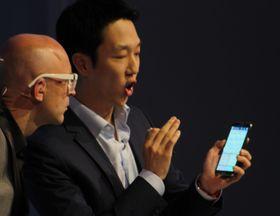 Fra Samsungs demo av Note 3 i Berlin.