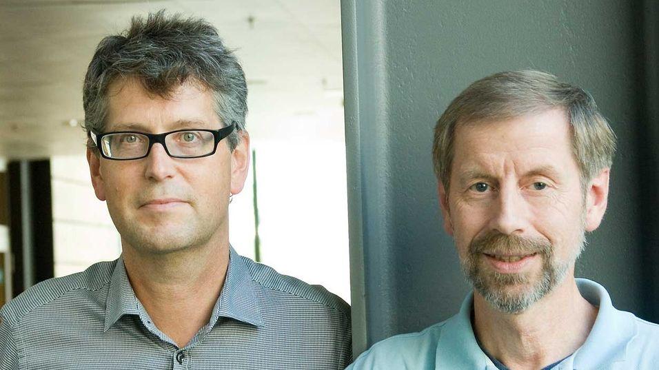 Leder for IP og mobilt kjernenett i Telenor, Bjørn Netland og prosjektleder Trond Egil Grønvold.