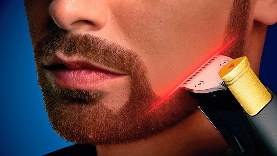 Denne skjeggtrimmeren har  lasersikte