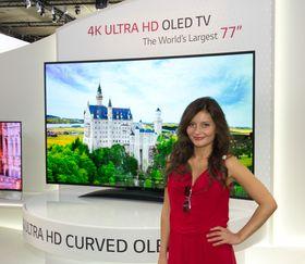 På fjorårets IFA-messe viste LG villig frem den enorme 4K OLED-skjermen som nå kommer.