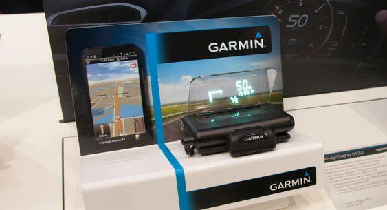 Garmin Heads-up-display: Garmin bruker vinduet ditt som skjerm.