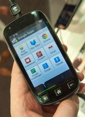 Menyene på Liberto 810 legger seg langt unna Androids standardmenyer. Dette er app-menyen.