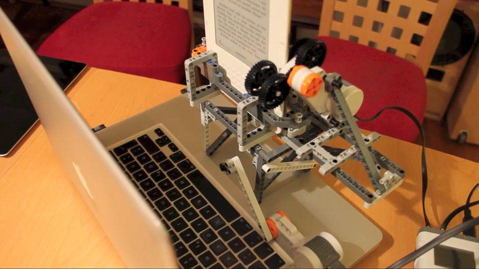 Lego-robot kjemper mot piratlåser