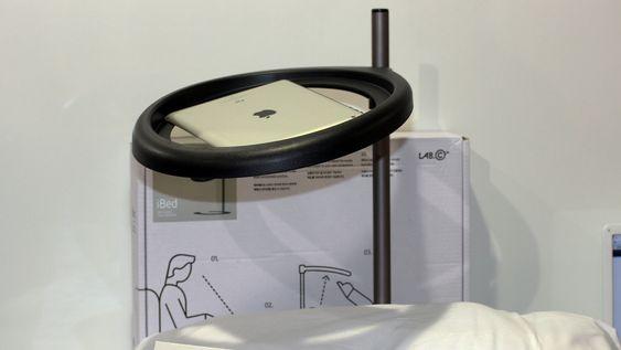 iBed: Ipad-holder for latsabber.