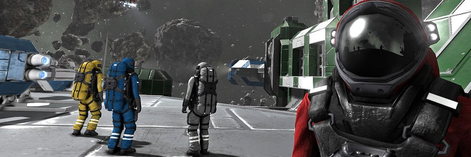 Bygg romskip og baser i Space Engineers
