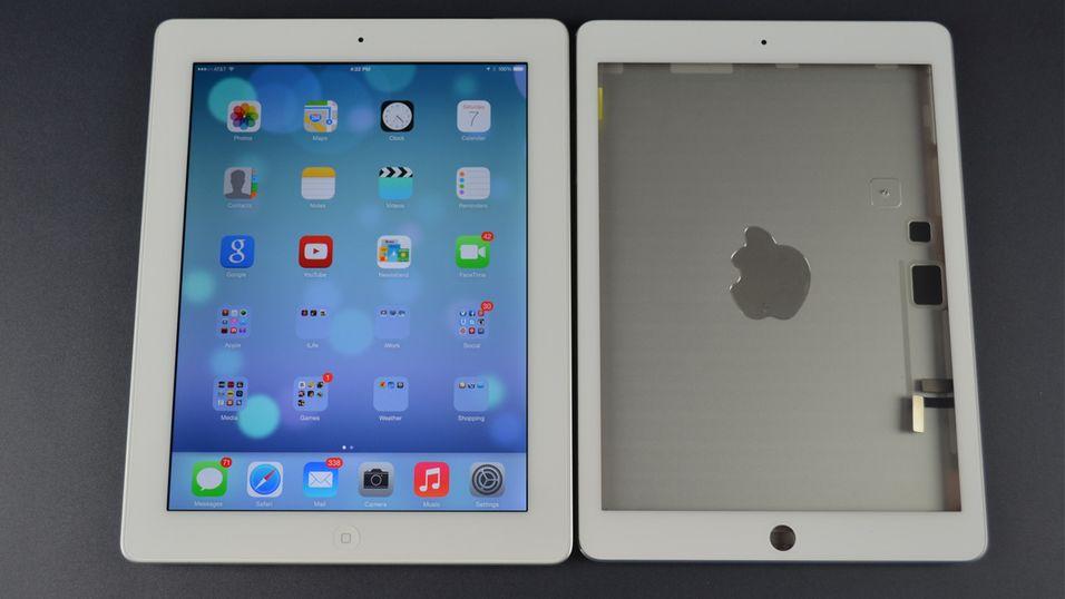 Haugevis av bilder sammenligner ny og gammel iPad
