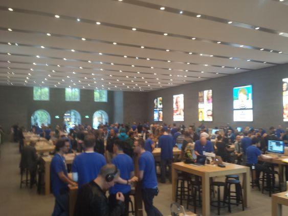 Det Europeiske pressearrangementet er lagt til Apple Store i Berlin.