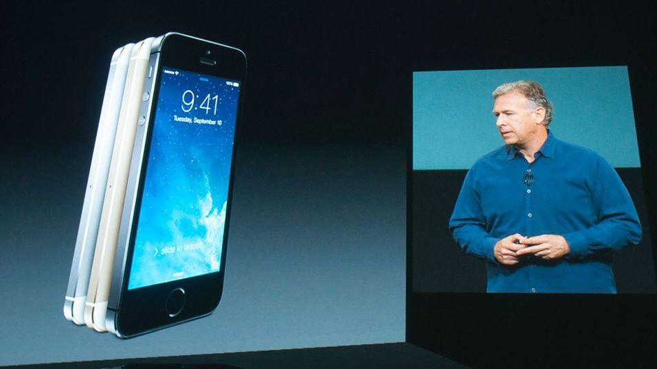 Apple-aksjen ned etter lansering av to nye iPhone-modeller