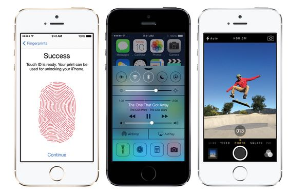 iPhone 5S får bedre kamera, fingeravtrykksleser, samt raskere prosessor.