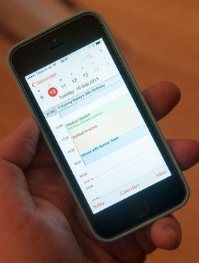 Kalenderen på iOS7.