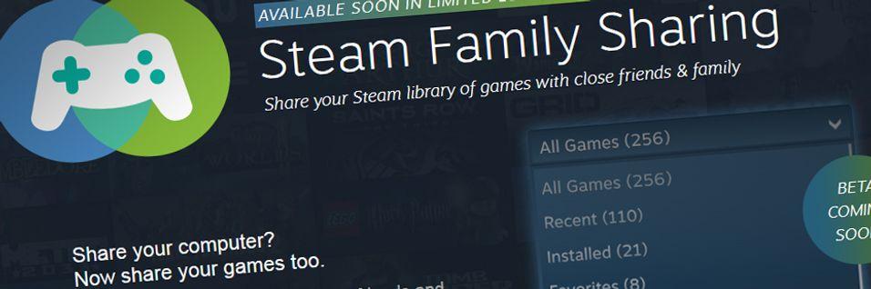 Snart kan du dele Steam-spela dine