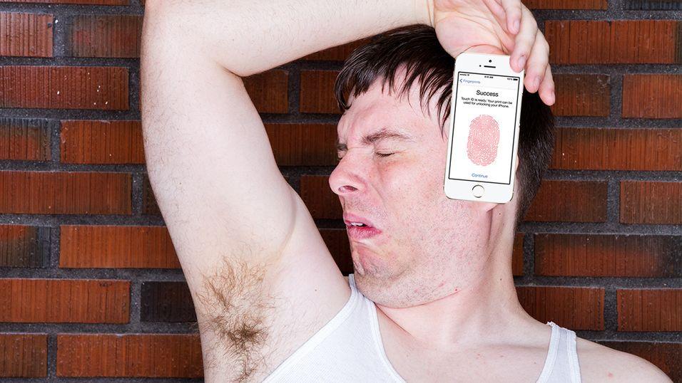 iPhone 5S liker ikke svette fingre