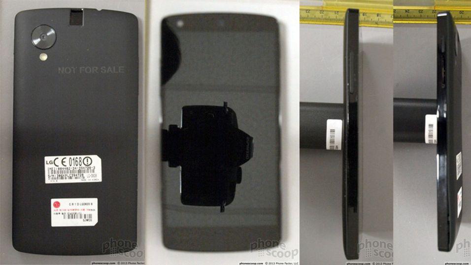 Disse bildene av det som skal være Nexus 5 er publisert i dokumenter levert inn til FCC.
