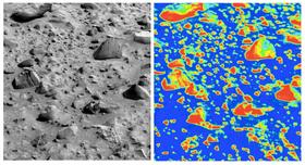 Hvordan TextureCam identifiserer stein på bakken.