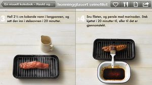 iOS-appen »En visuell kokebok» er en av mange oppskriftsapper til nettbrett.