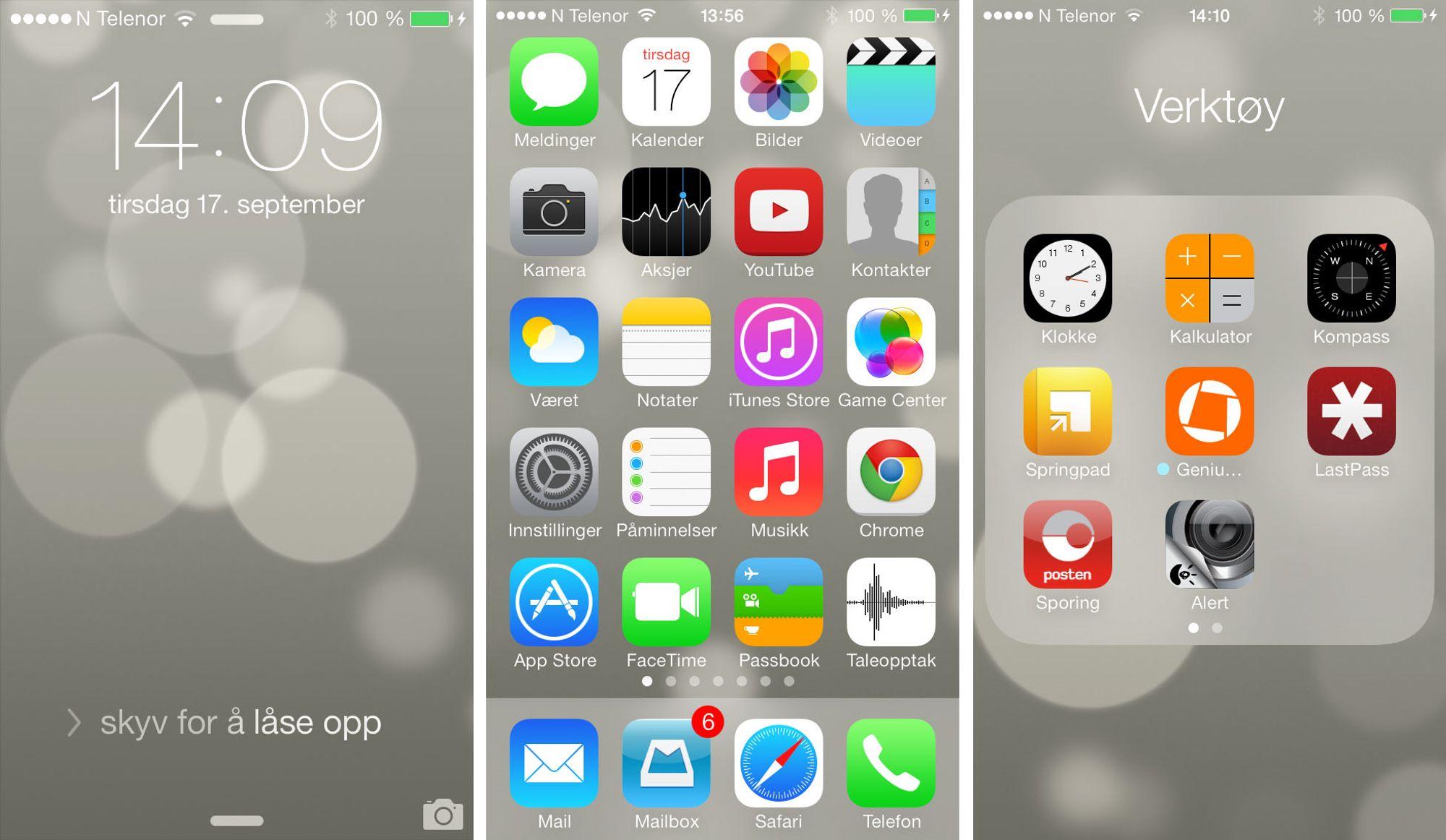 ny bruker iphone