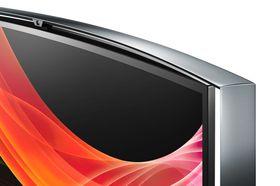 Fremsiden av rammen på Samsung KE55S9C.