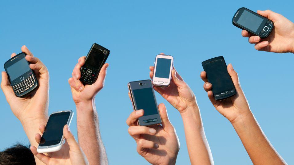Mobiltelefoner øker
