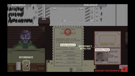 Papers, Please (Lucas Pope).