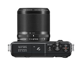 Nikon 1 AW1 kommer med et 11-27.5mm kitobjektiv.