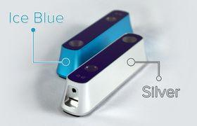 Sensoren kommer i to farger - blått eller grått.