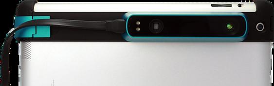 Slik ser den ut når den er festet på en vanlig Apple iPad.
