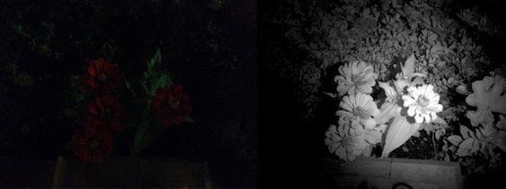 De innebygde infrarøde lysene gjør at Structure kan se i mørket.