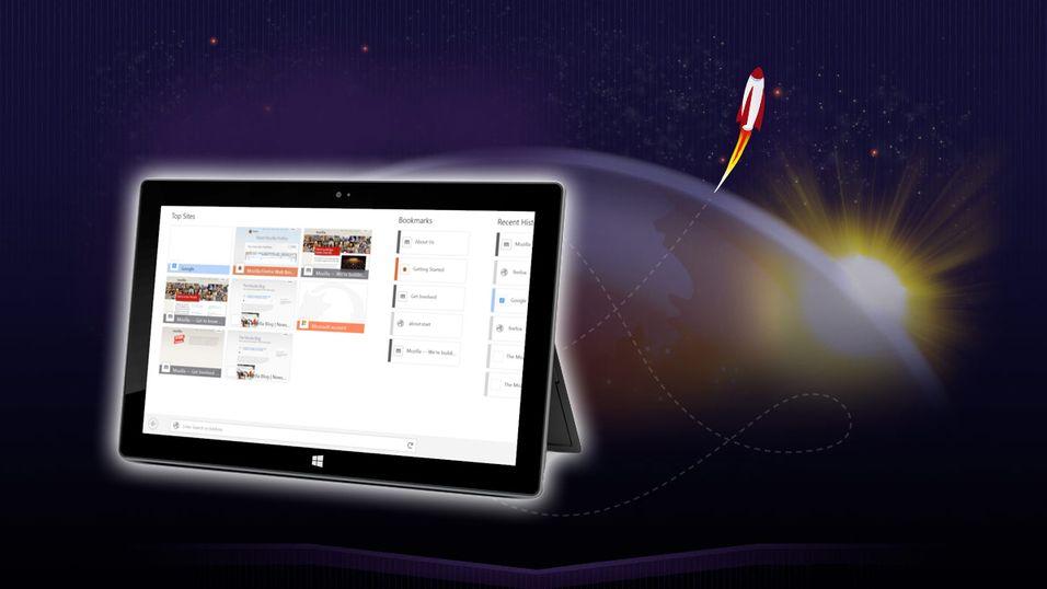 Nå kan du teste ut Firefox for Windows 8-nettbrett